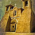 Ranchos Church In Old Gold by Charles Muhle