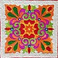Rangoli Made With Coloured Sand by Asha Aditi Ruparelia