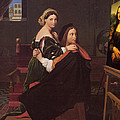 Raphael And The Fornarina 1814 by Jean Ingres