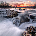 Rapids On Sunset by Davorin Mance