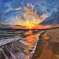 Rare California Sunset by Angela Stanton