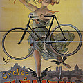 Rare Vintage Paris Cycle Poster by Edward Fielding