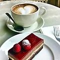 Raspberry Delice And Latte by Susan Garren