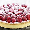 Raspberry tart by Elena Elisseeva