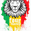 Rasta Lion Of 420 by MotionAge Designs
