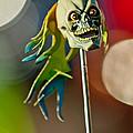 Rat Rod Antenna Skull  by Jill Reger