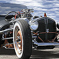 Rat Rod On Route 66 2 Panoramic by Mike McGlothlen