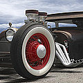 Rat Rod On Route 66 Panoramic by Mike McGlothlen