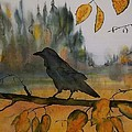 Raven In Orange Birch by Carolyn Doe