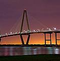 Ravenel Bridge At Night by Robert Donovan
