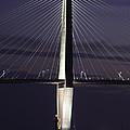 Ravenel Bridge Night View by Dale Powell