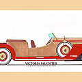 Ray Dietrich Packard Victoria Roadster Concept Design by Jack Pumphrey