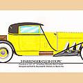 1922 Mercedes Benz By Raymond Dietrich Z by Jack Pumphrey
