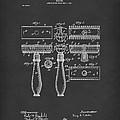 Razor 1904 Patent Art Black by Prior Art Design