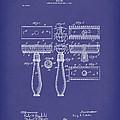 Razor 1904 Patent Art Blue by Prior Art Design