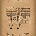 Razor 1904 Patent Art Brown by Prior Art Design