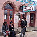 Re-enactors Bird Cage Theater Rendezvous Of The Gunfighters Tombstone Arizona 2004            by David Lee Guss