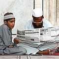Reading In New Delhi by Amanda Stadther