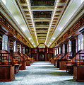 Reading Room In The Library Of Congress by Mountain Dreams