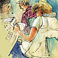 Reading The News 06 by Miki De Goodaboom