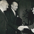 Reception To Mark Award Of Nobel Prize by Retro Images Archive