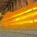 Reclining Buddha In Wat Po In Bangkok-thailand by Ruth Hager