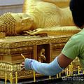 Reclining Buddha Prayer Candles by Bob Christopher