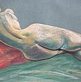Reclining Nude Back by Asha Carolyn Young