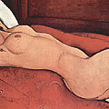 Reclining Nude With Arms Behind Her Head by Amedeo Modigliani