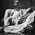 Reclining Nude With Bird by Granger