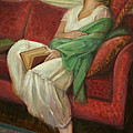 Reclining With Book by Sarah Parks