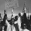 Recognize Martin Luther King Day Rally Tucson Arizona 1991 Black And White by David Lee Guss