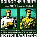 Recruiting Poster - Britain - Rugby by Benjamin Yeager