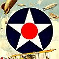 Recruiting Poster - Ww1 - Air Service by Benjamin Yeager