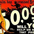 Recruiting Poster - Ww1 - Australian Promise by Benjamin Yeager
