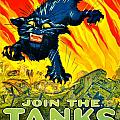 Recruiting Poster - Ww1 - Join The Tank Corps by Benjamin Yeager