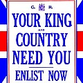 Recruiting Poster - Britain - King And Country by Benjamin Yeager