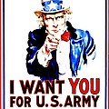 Recruiting Poster - Ww1 - I Want You by Benjamin Yeager