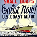 Recruiting Poster - Ww2 - Coast Guard by Benjamin Yeager