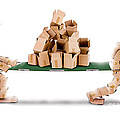 Recycling Boxes By Box Characters And Stretcher by Simon Bratt Photography LRPS