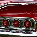 Red 1960 Chevy Tail Light by Dean Ferreira