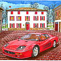 Enzo Ferrari S Garage With 1995 Ferrari 512m by Jack Pumphrey