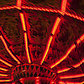 Red Abstract Carnival Lights by Garry Gay