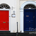 Red And Blue Doors by Joe Cashin