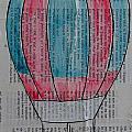 Red And Blue Hot Air Balloon In Paris Fashion by Nicole Dietz