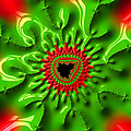 Red And Green Abstract Fractal Art by Matthias Hauser