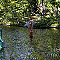 Red And Green Buoys by Les Palenik