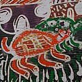 Red And Green Tortoise On Their Way To Bush by Okunade Olubayo