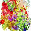 Red And Purple Calibrachoa - Digital Paint II by Debbie Portwood