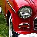 Red And White 50's Chevy by Dean Ferreira